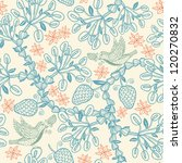 vector floral seamless pattern...   Shutterstock .eps vector #120270832