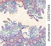 vector floral background with a ... | Shutterstock .eps vector #120271066