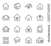 house  icon set. houses ... | Shutterstock .eps vector #1202714242