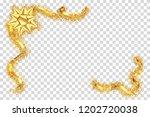 gold ribbon frame. golden...   Shutterstock .eps vector #1202720038