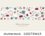 merry christmas colourful... | Shutterstock .eps vector #1202734615