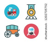 carriage icon set. vector set... | Shutterstock .eps vector #1202735752