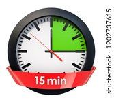 clock face with 15 minutes... | Shutterstock . vector #1202737615