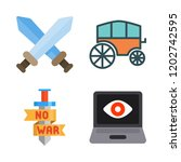 battle icon set. vector set... | Shutterstock .eps vector #1202742595