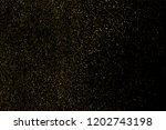 gold glitter texture isolated... | Shutterstock . vector #1202743198