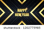 happy new year holiday metal... | Shutterstock .eps vector #1202775985