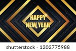 happy new year holiday metal... | Shutterstock .eps vector #1202775988