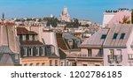 sacre coeur basilica above of... | Shutterstock . vector #1202786185