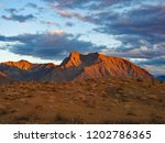 indianhead mountain in dawn... | Shutterstock . vector #1202786365