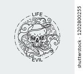 life evil. vector illustration... | Shutterstock .eps vector #1202800255
