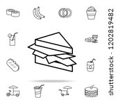 sandwich icon. fast food icons... | Shutterstock .eps vector #1202819482