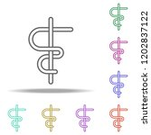 aesculapius line icon. elements ...