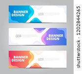 vector abstract design banner... | Shutterstock .eps vector #1202844265