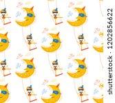 seamless pattern girl circus...   Shutterstock .eps vector #1202856622