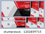 red and black web banners... | Shutterstock .eps vector #1202859715
