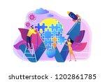 business team doing lightbulb... | Shutterstock .eps vector #1202861785
