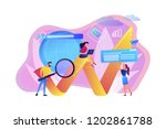 team of specialists with... | Shutterstock .eps vector #1202861788