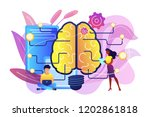 big brain with circuit and... | Shutterstock .eps vector #1202861818