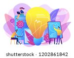 business people analyzing and...   Shutterstock .eps vector #1202861842