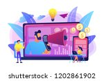 marketer delivering ads with... | Shutterstock .eps vector #1202861902