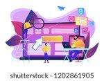 it specialist identify user... | Shutterstock .eps vector #1202861905