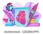 scientists growing big heart in ... | Shutterstock .eps vector #1202861995