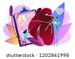 doctor with stethoscope... | Shutterstock .eps vector #1202861998