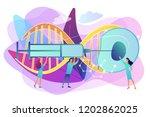 scientists fertilize huge cell... | Shutterstock .eps vector #1202862025