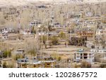 lanscape scene of  leh city in... | Shutterstock . vector #1202867572
