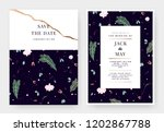 botanical wedding invitation...   Shutterstock .eps vector #1202867788