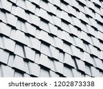 architecture details trapezoid... | Shutterstock . vector #1202873338