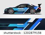 car decal wrap design vector.... | Shutterstock .eps vector #1202879158