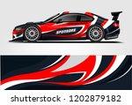 car decal wrap design vector.... | Shutterstock .eps vector #1202879182
