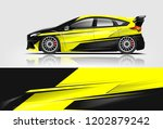 car decal wrap design vector.... | Shutterstock .eps vector #1202879242