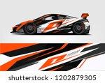 car decal wrap design vector.... | Shutterstock .eps vector #1202879305