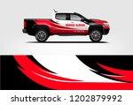 truck wrap design. wrap ... | Shutterstock .eps vector #1202879992