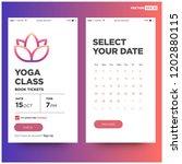 yoga class app ux ui design for ...