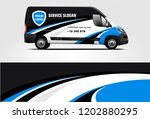 van wrap design. wrap  sticker... | Shutterstock .eps vector #1202880295
