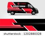 van wrap design. wrap  sticker... | Shutterstock .eps vector #1202880328