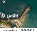 this is an image of some boats...   Shutterstock . vector #1202880415