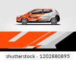 car wrap design. wrap  sticker... | Shutterstock .eps vector #1202880895