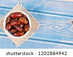 heap of dates as source natural ... | Shutterstock . vector #1202884942