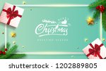 vector merry christmas and... | Shutterstock .eps vector #1202889805