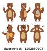 brown bear cartoon. wild animal ... | Shutterstock .eps vector #1202890105