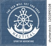 nautical anchor poster. ocean...   Shutterstock .eps vector #1202890108