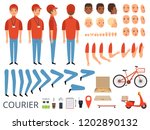 pizza delivery animation. fast... | Shutterstock .eps vector #1202890132