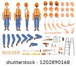engineer character animation.... | Shutterstock .eps vector #1202890168