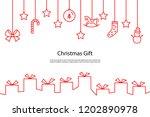 christmas gift box background ... | Shutterstock .eps vector #1202890978