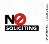 no soliciting vector... | Shutterstock .eps vector #1202891128