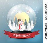 merry christmas and happy new... | Shutterstock .eps vector #1202892055